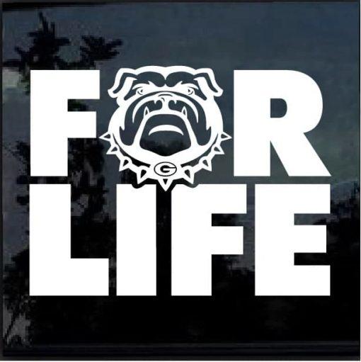 UGA Georgia Bulldogs for life decal sticker