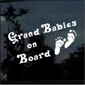 Grand Babies on board decal sticker