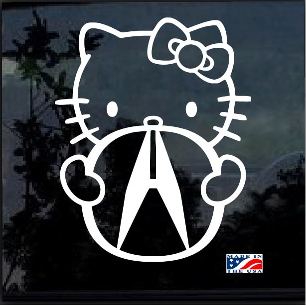 Hello Kitty Acura Decal Sticker
