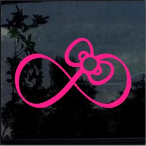 Hello Kitty Pink Bow Infinity Decal Sticker