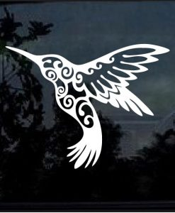 Hummingbird decal sticker a4