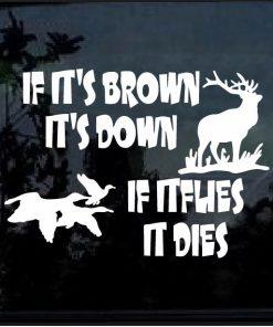 Hunting Elk Decal Sticker