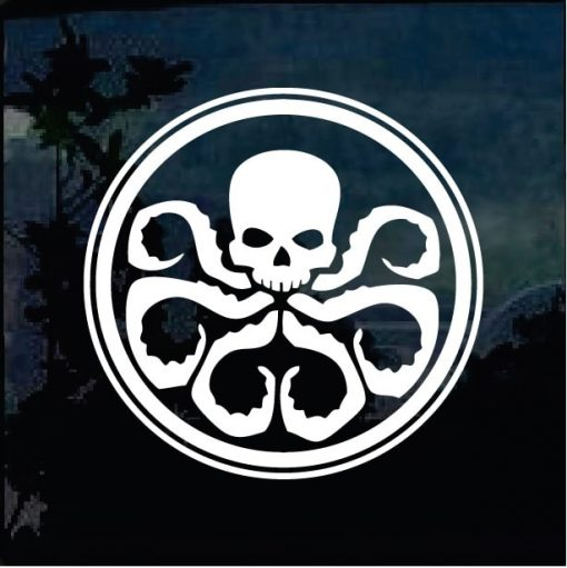 Hydra Marvel Agents Shield window Decal Sticker
