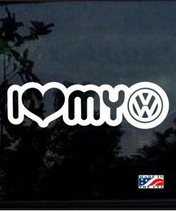 I love my VW jetta cabrio cc decal sticker