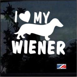 I love my Wiener Decal Sticker