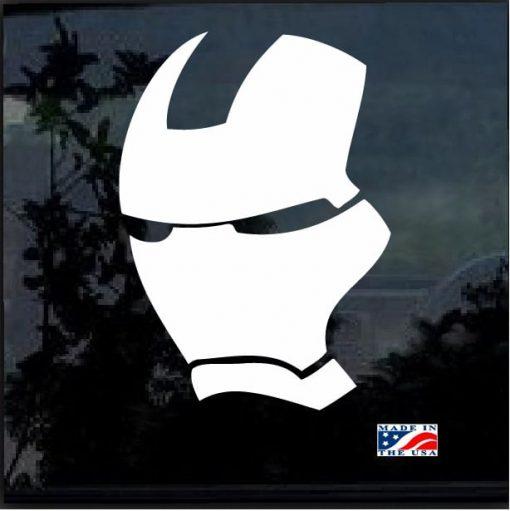 Iron Man Mask Decal Sticker