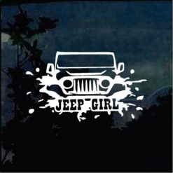 Jeep Decals - Jeep Girl Sticker a4