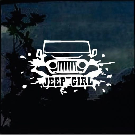 Jeep Decals - Jeep Girl Sticker a4