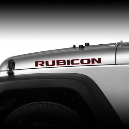 Jeep Rubicon CJ JK TJ YJ 2 color hood decal sticker