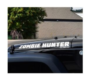 Jeep Zombie Hunter Edition Hood Decals