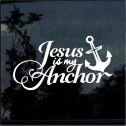 Jesus is my Anchor Christian Decal Sticker