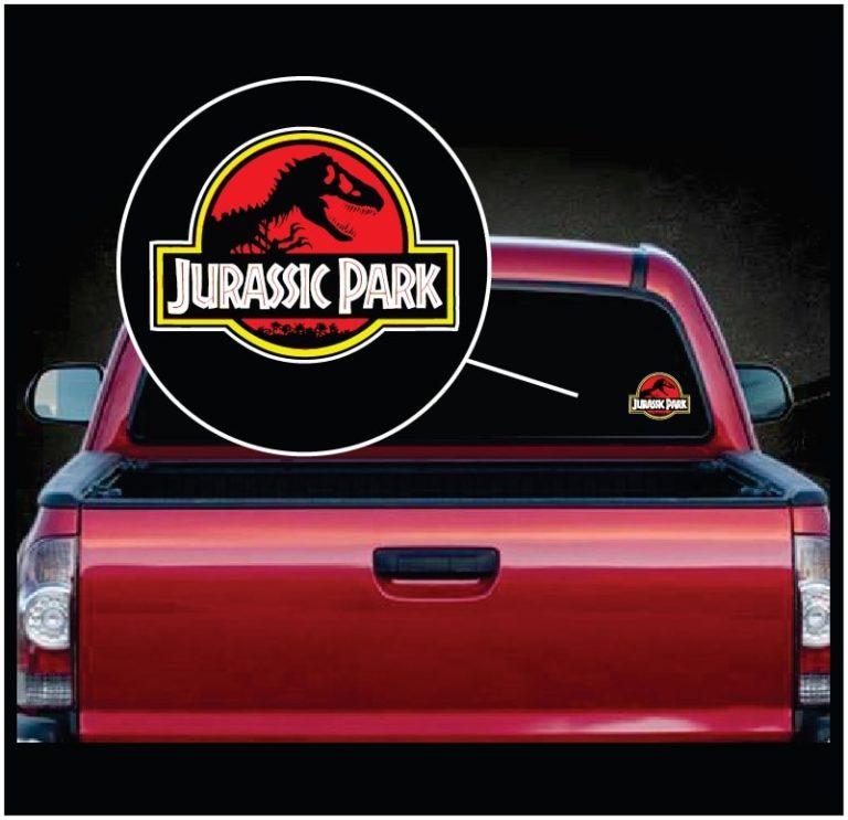 Jurassic Park Full Color Decal Sticker Custom Sticker Shop