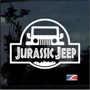Jurassic Park Jeep Decal sticker