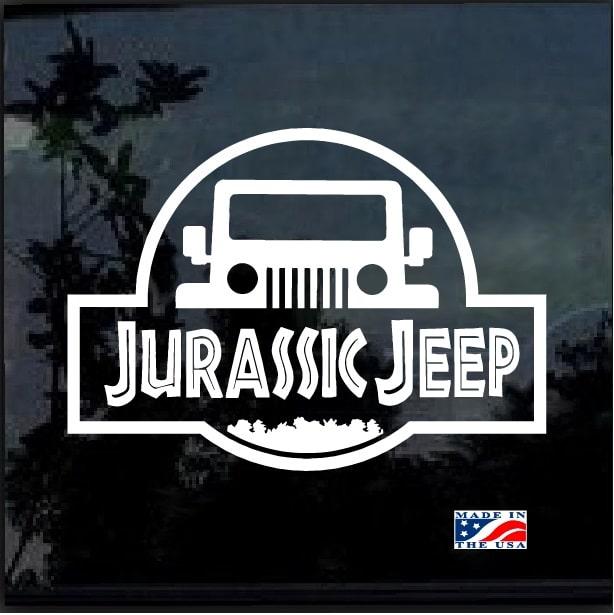 Jurassic Park Jeep Decal sticker - Custom Sticker Shop