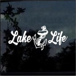 Lake Life Anchor Decal Sticker