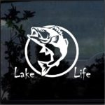 Lake Life Bass Fish Window Decal Sticker