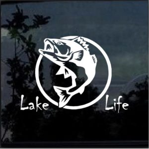 Lake Life Bass Fish Decal Sticker