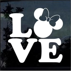 Love Minnie Mouse Disney Decal Sticker