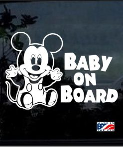 Mickey Mouse Baby on board decal sticker