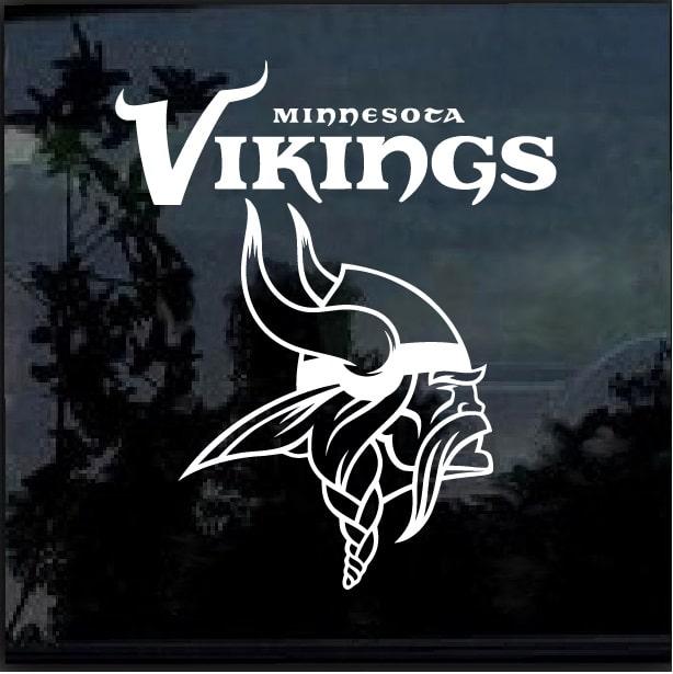 Minnesota Vikings Window Decal Sticker – Custom Sticker Shop 82d397b38