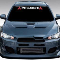 Mitsubishi Windshield Decal with logo