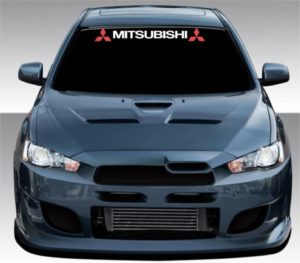 Mitsubishi Windshield Decal with logo