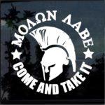 Come Take it round Molon Labe Window Decal Sticker