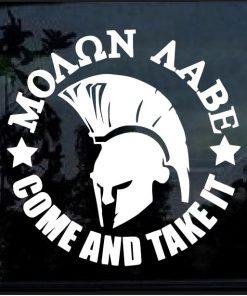 Molon Labe Come Take it round decal sticker