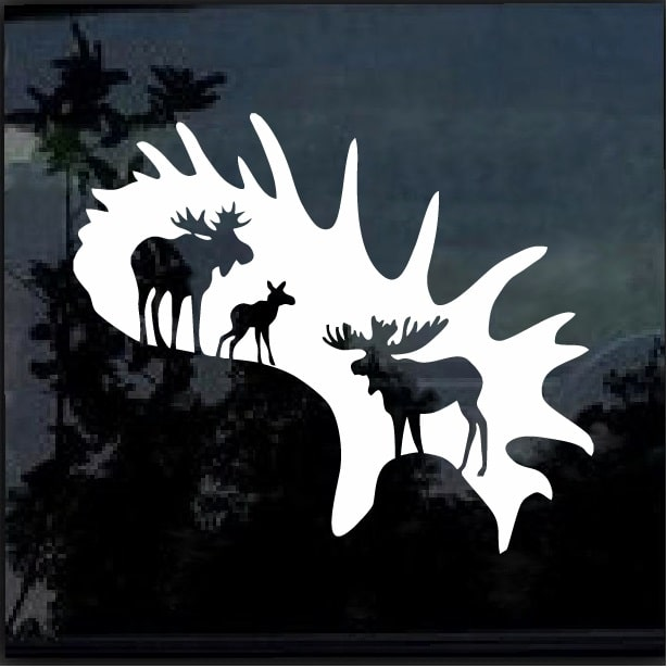 9e62dcfb973 Moose Hunting Window Decal Sticker – Custom Sticker Shop