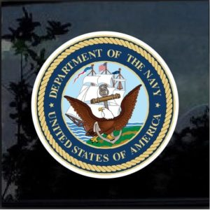 Navy Eagle full color decal sticker