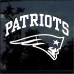 New England Patriots Window Decal Sticker