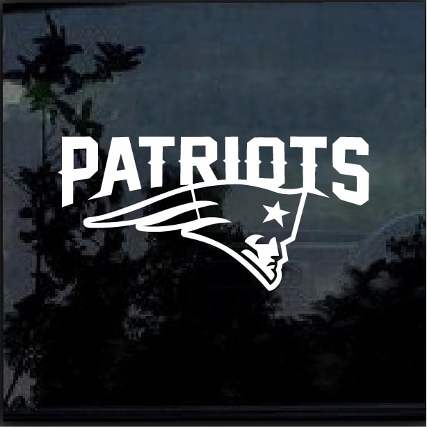 abe388da839 New England Patriots d2 Window Decal Sticker – Custom Sticker Shop