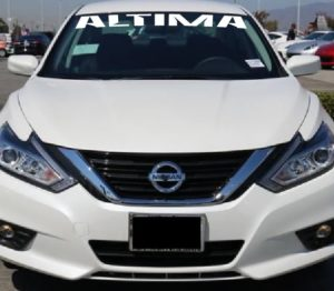 Nissan Altima windshield decal sticker