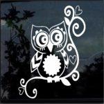 Owl sticker - Owl Tribal Decal A1