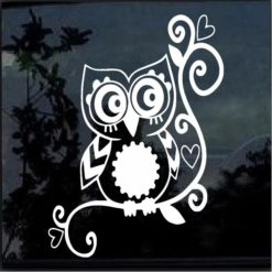 Owl Tribal Decal Sticker A1
