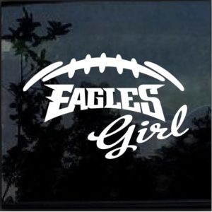Philadelphia Eagles Girl Decal Sticker