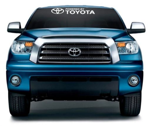 Powered by Toyota Windshield Decal Sticker