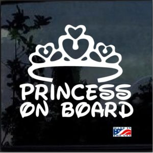 Princess on Board Decal Sticker a2
