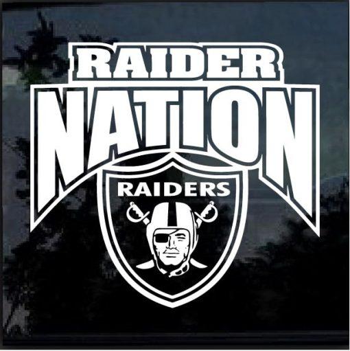 Raider Nation Oakland Raiders Decal Sticker