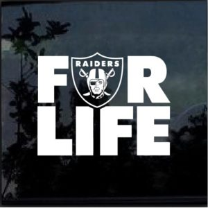 Raiders for Life Decal Sticker