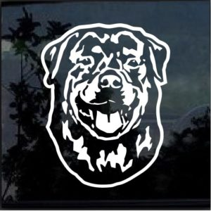 Rottweiler Dog Head Decal Sticker