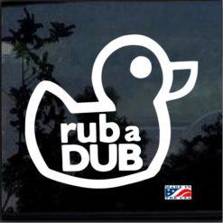 Rub A Dub VW Volkswagen Jetta Golf GTI Beetle Decal Sticker