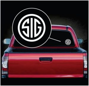 SIG Sauer window decal sticker a2