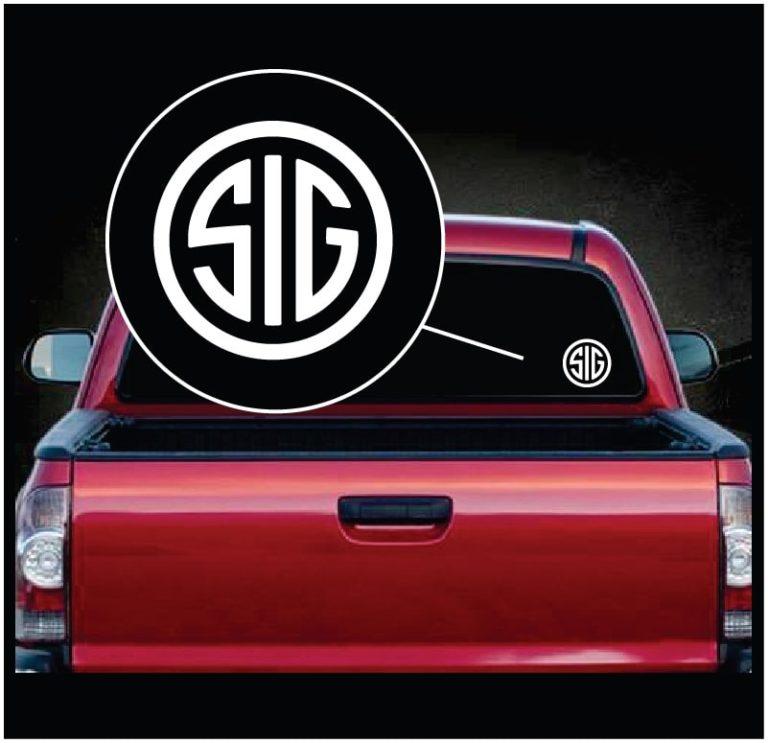 Sig sauer window decal sticker a2