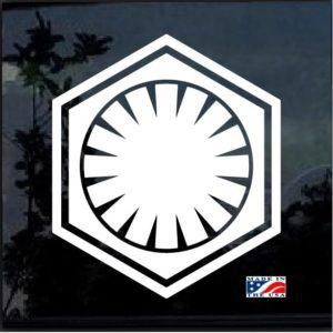 Star Wars First Order Decal Sticker