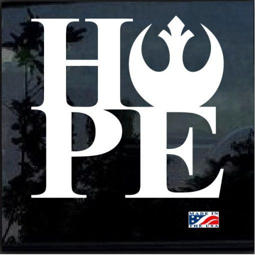 Star Wars Rebel Hope Decal Sticker