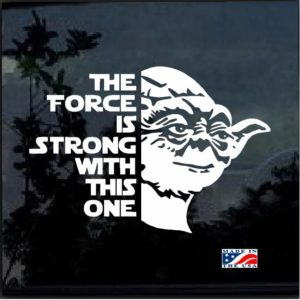 Star Wars Yoda The force is Strong Decal Sticker