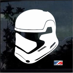 Star wars First Order Trooper Helmet Decal Sticker