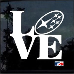 Subaru love decal sticker forester impreza STI WRX BRZ