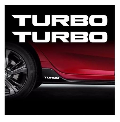 TURBO Decal Sticker Fits Honda Civic Accord
